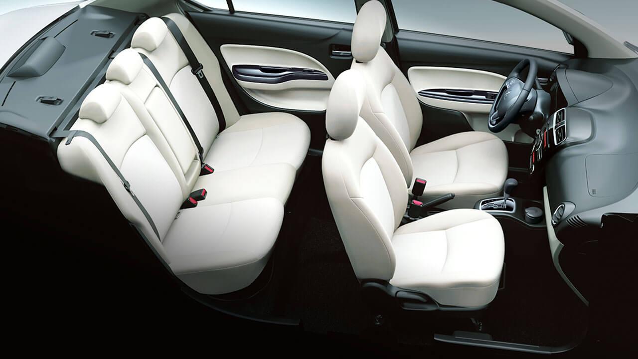 bán xe mitsubishi attrage nội thất tinh tế