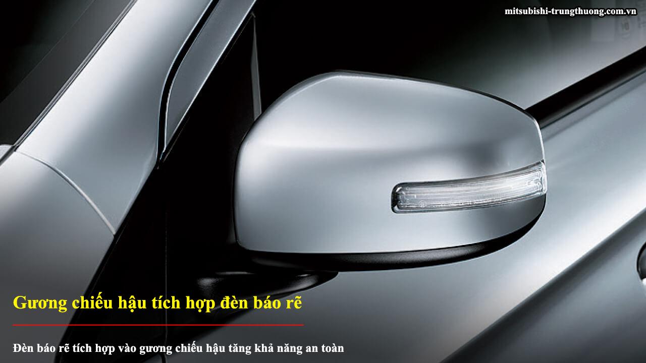 Mitsubishi Mirage 2017 với gương chiếu hậu tích hợp đèn báo rẽ