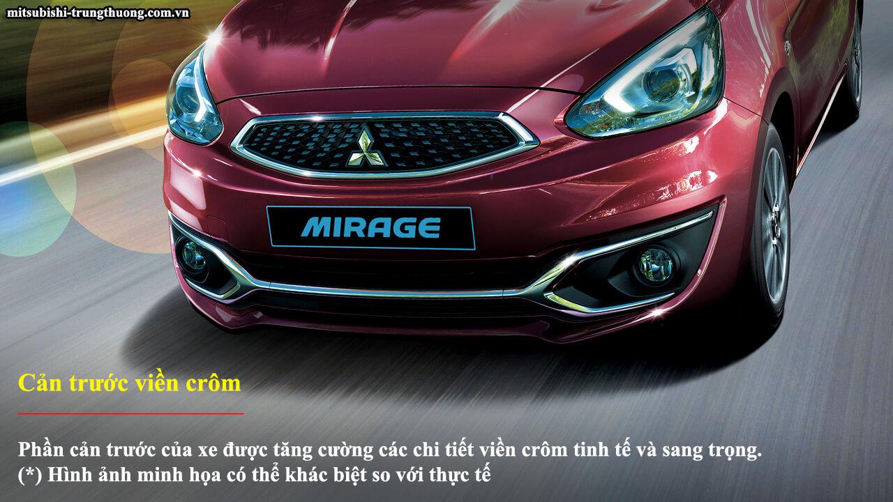 Mitsubishi Mirage 2017 trang bị cản trước viền crôm