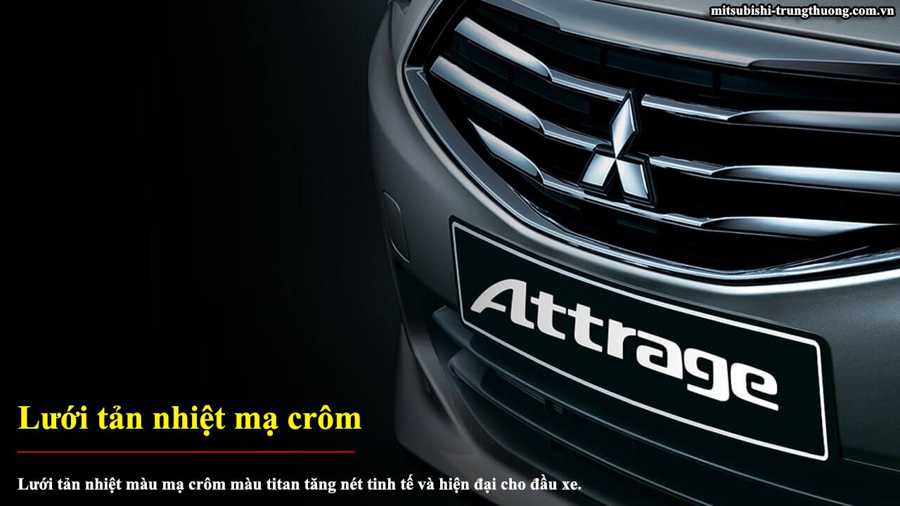 Mitsubishi Attrage số sàn 2017 trang bị lưới tản nhiệt crôm
