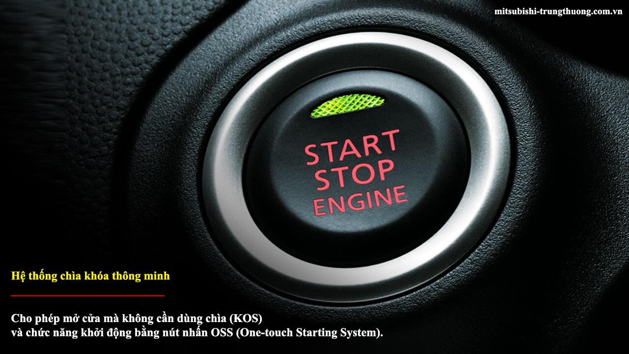 Mitsubishi Attrage MT STD có hệ thống chìa khóa thông minh