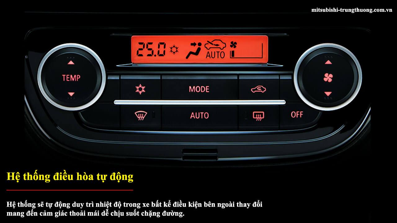 Mitsubishi Attrage MT STD có hệ thống điều hòa tự động