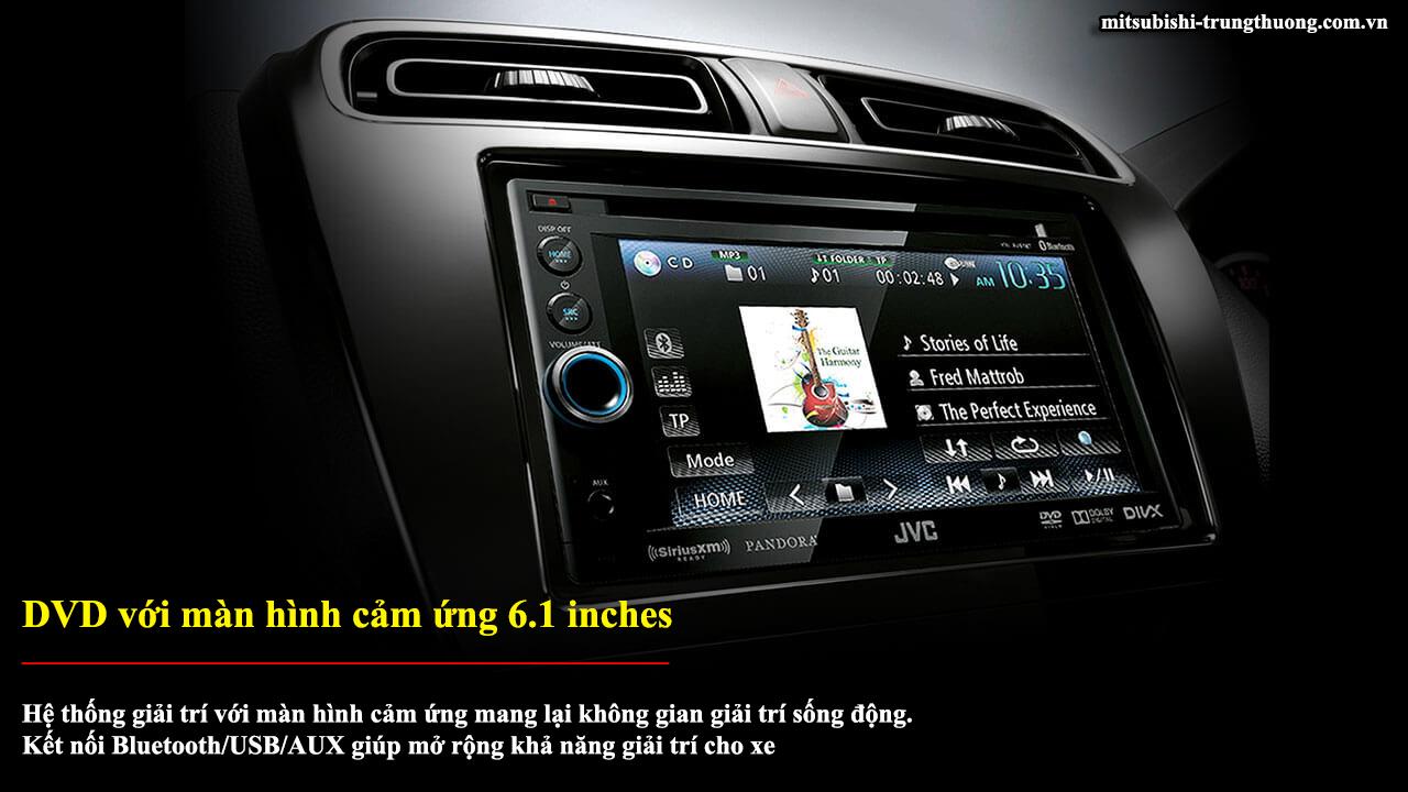 Mitsubishi Attrage MT STD có DVD và màn hình cảm ứng 6.1 inches