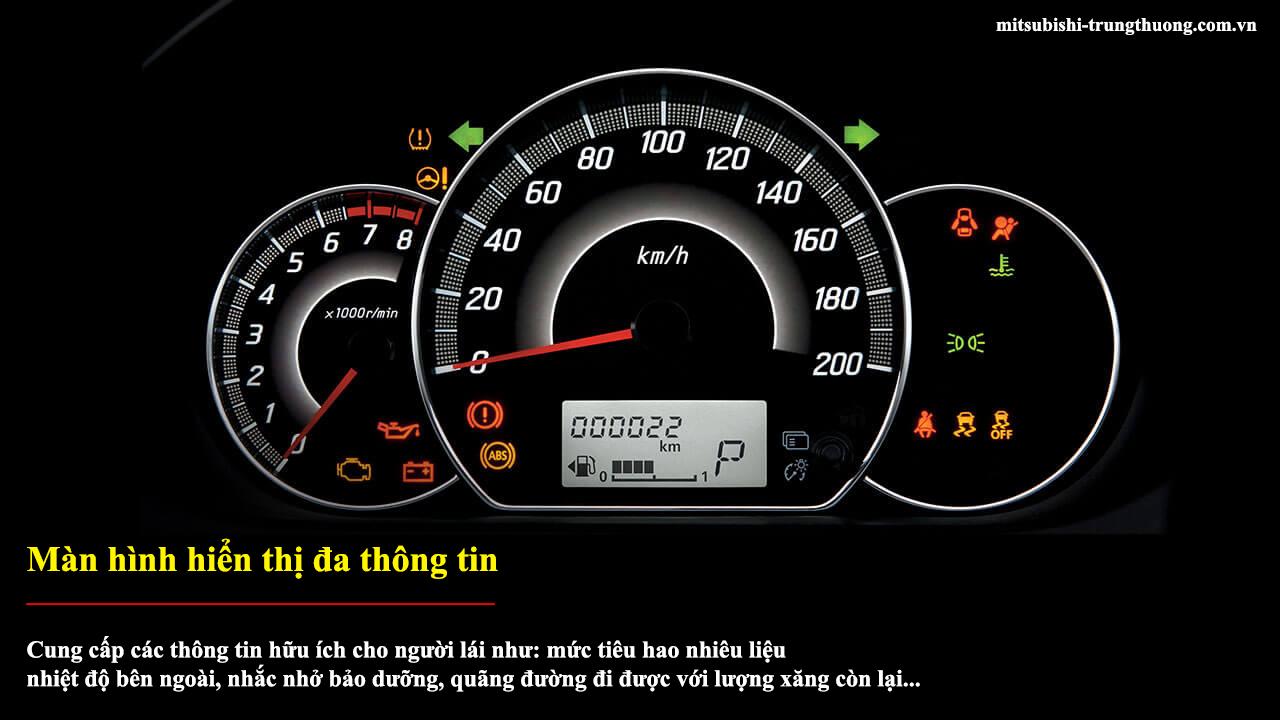 Mitsubishi Attrage MT STD có màn hình hiển thị đa thông tin