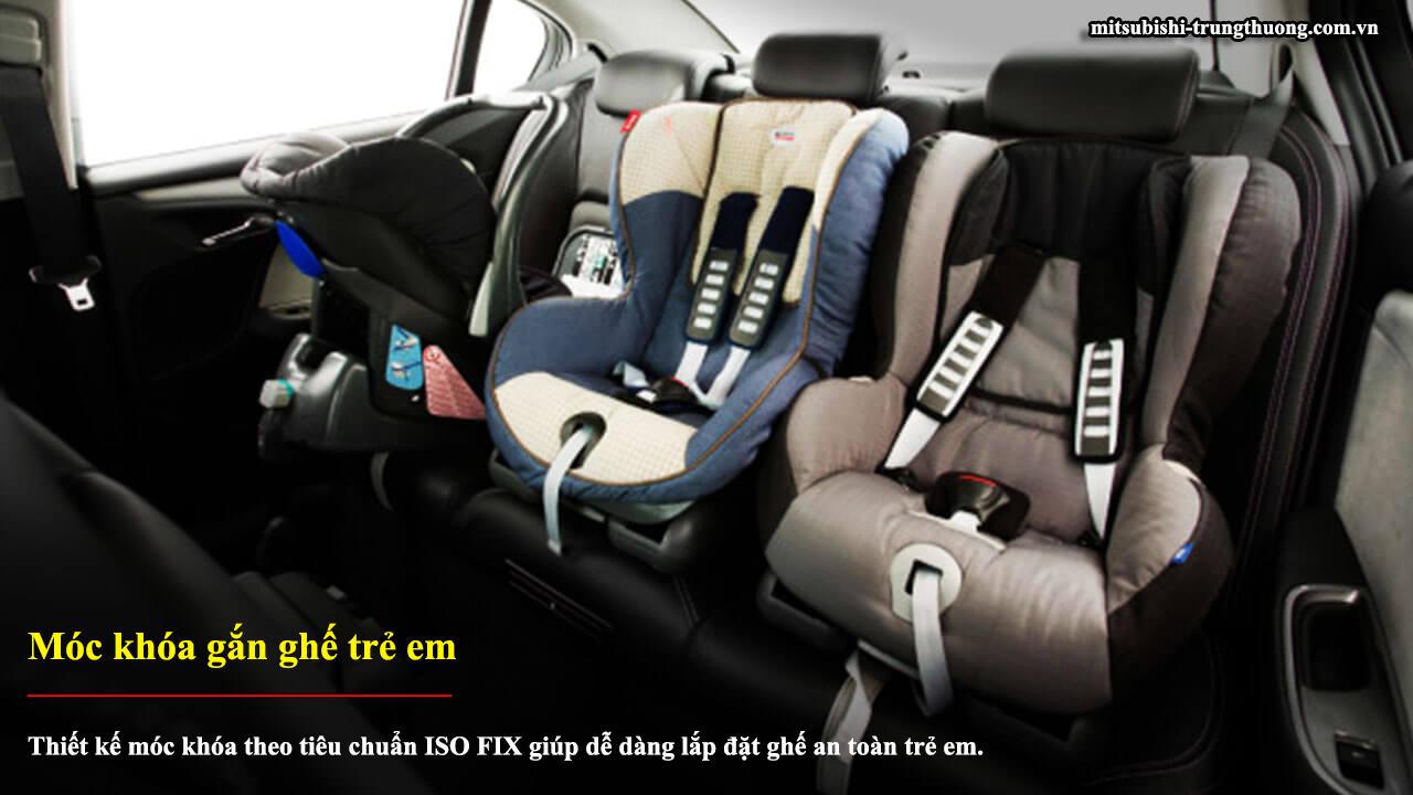 Mitsubishi Attrage MT STD có móc khóa gắn ghế trẻ em