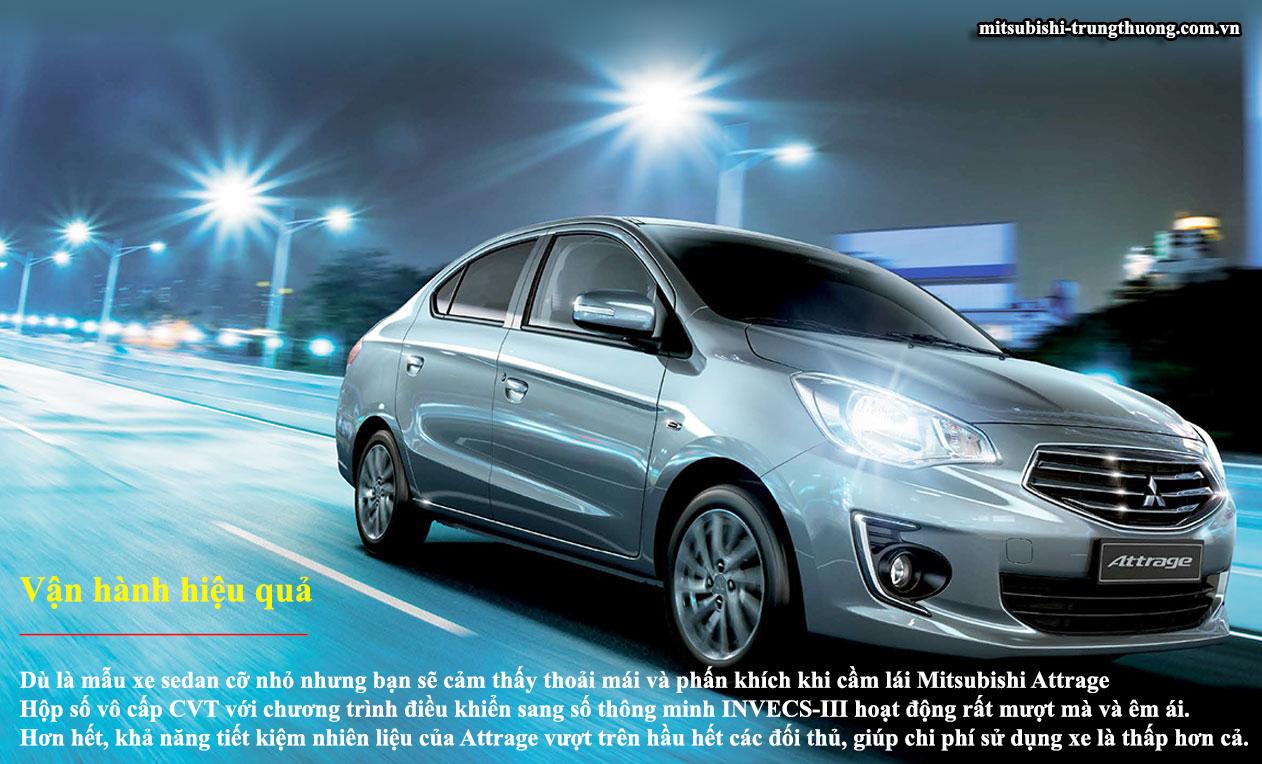 Mitsubishi Attrage MT STD vận hành hiệu quả