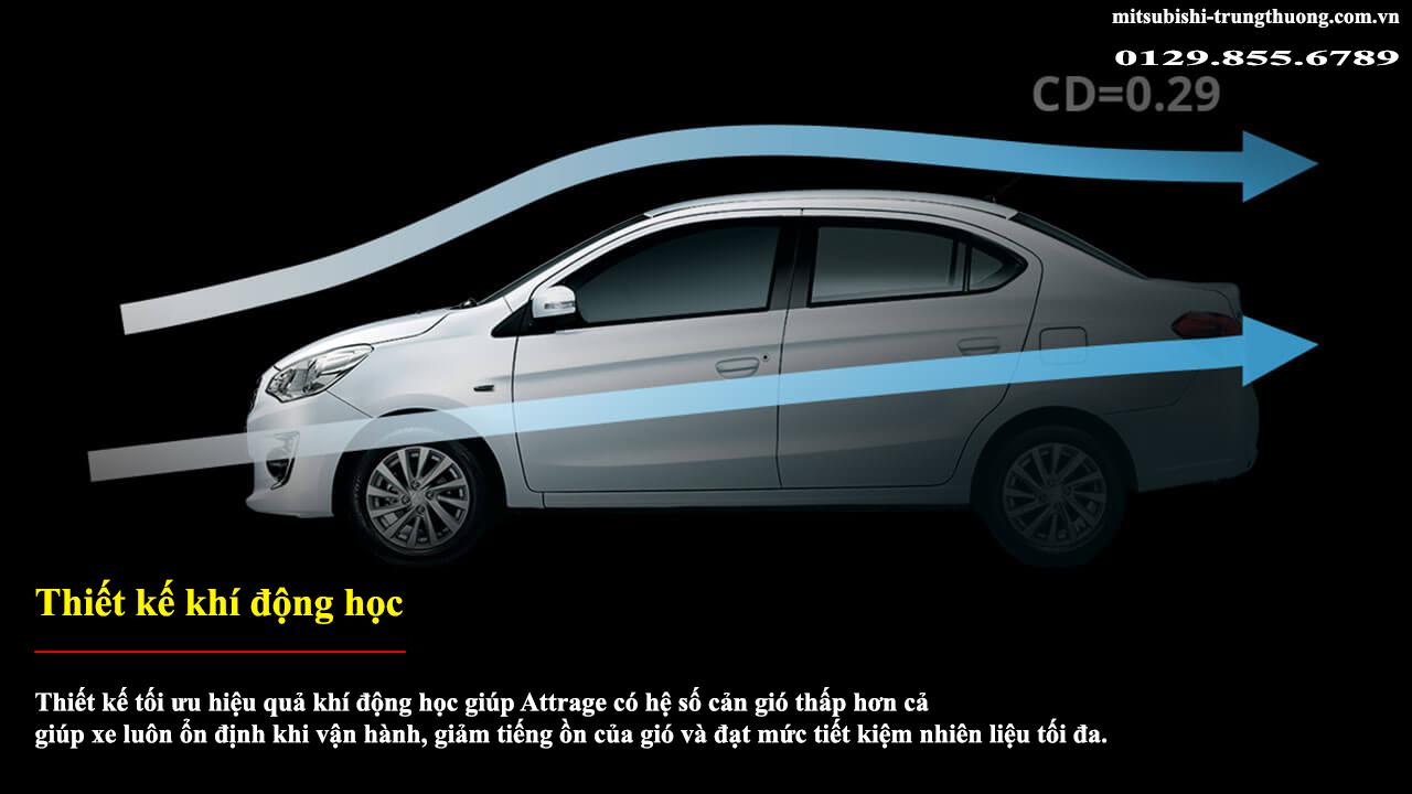 Mitsubishi Attrage số sàn 2017 có thiết kế khí động học