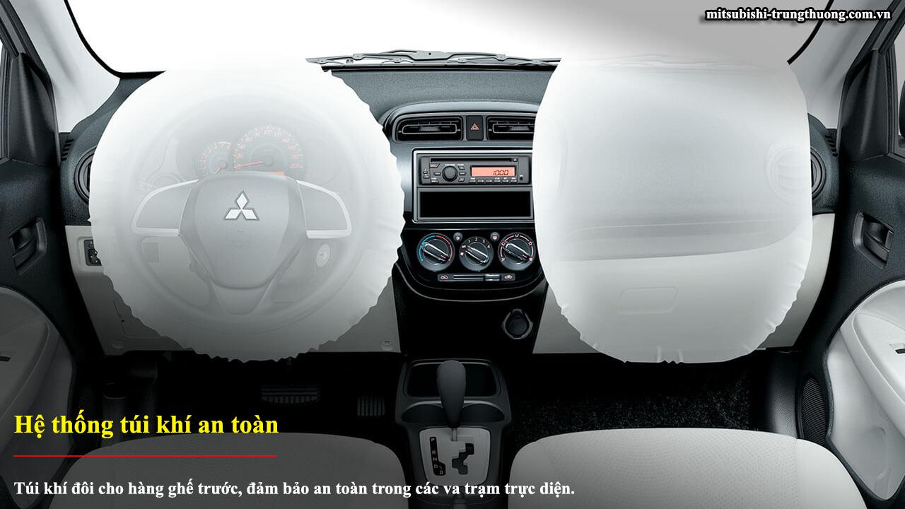 Mitsubishi Attrage MT STD có hệ thống túi khí an toàn