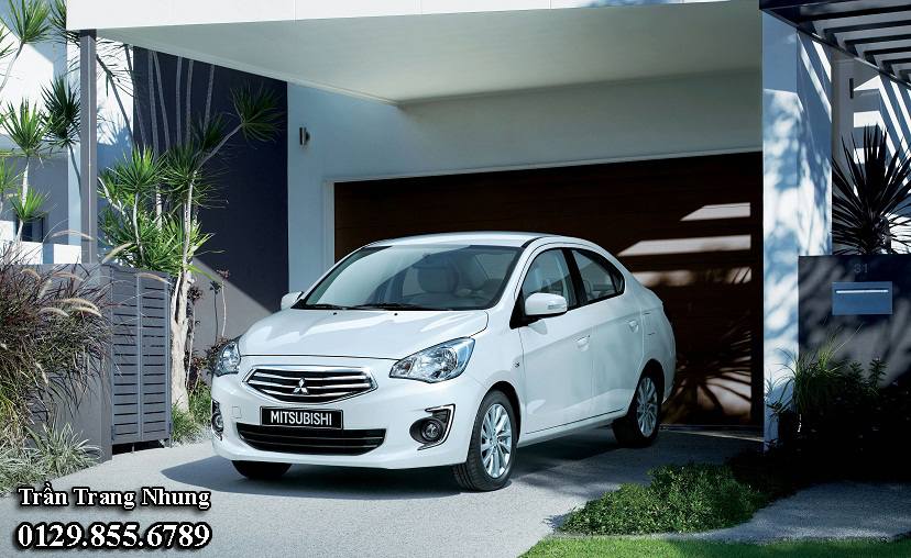 Mitsubishi Attrage số tự động 2017 ngoại thất trắng