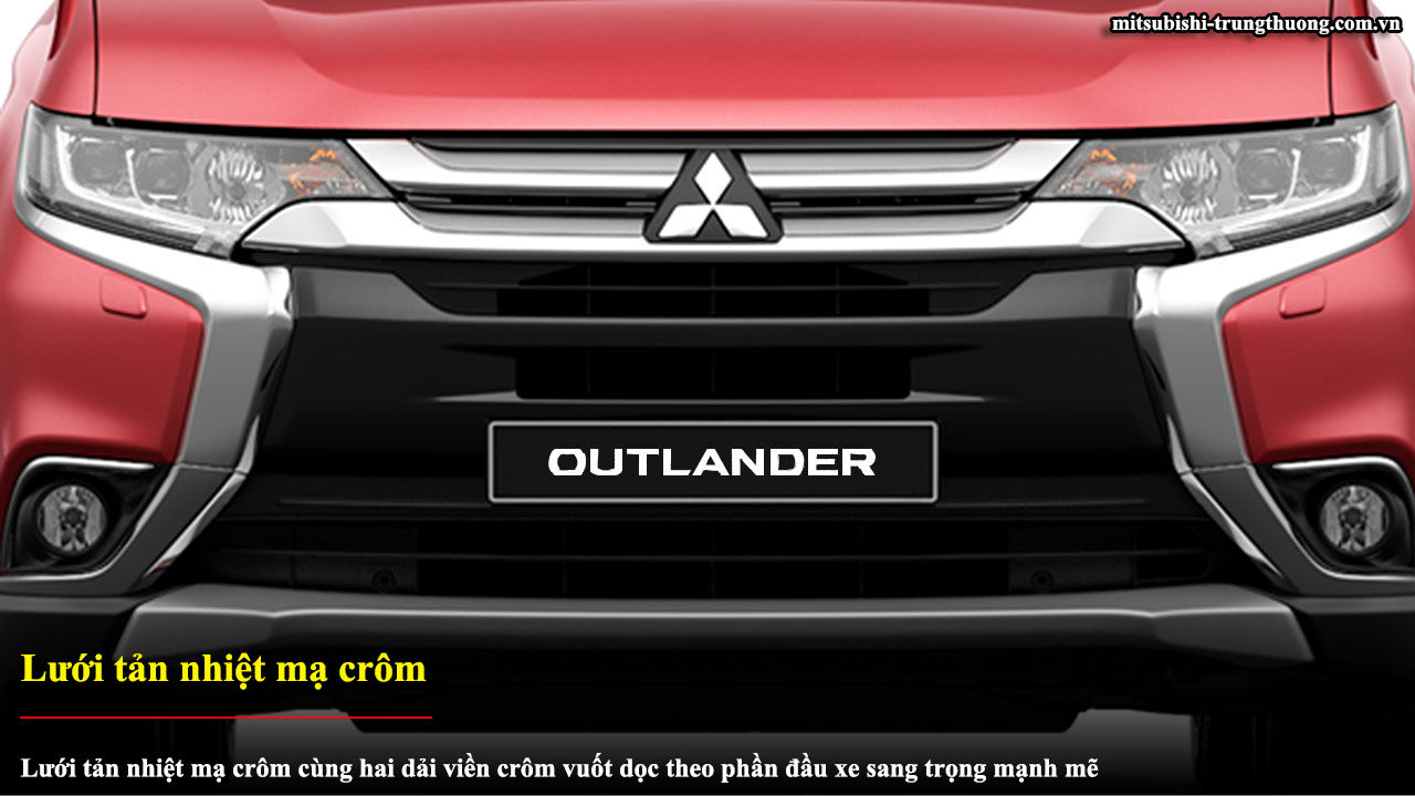 Mitsubishi Outlander 1 cầu 2.0 CVT có lưới tản nhiệt crôm