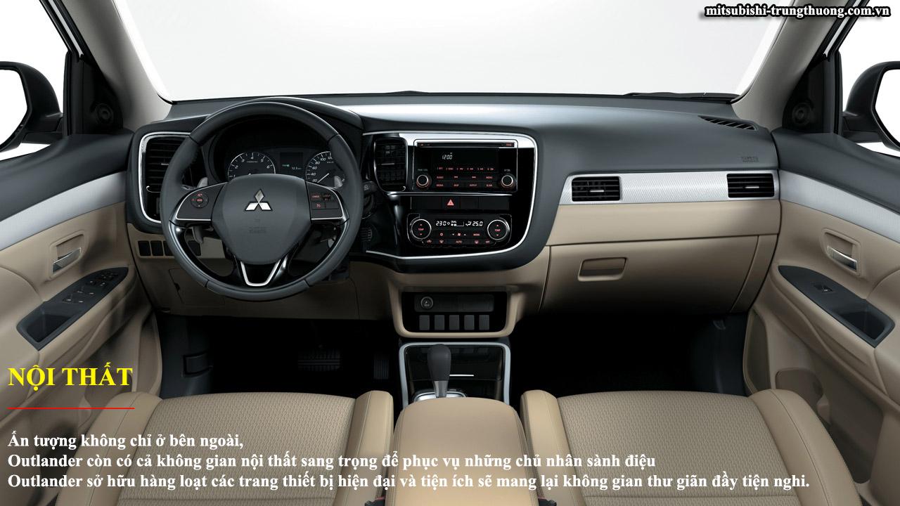 Mitsubishi Outlander 1 cầu 2.0 CVT nội thất rộng rãi