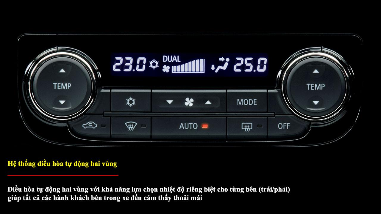 Mitsubishi Outlander 1 cầu 2.0 STD hệ thống điều hòa tự động hai vùng