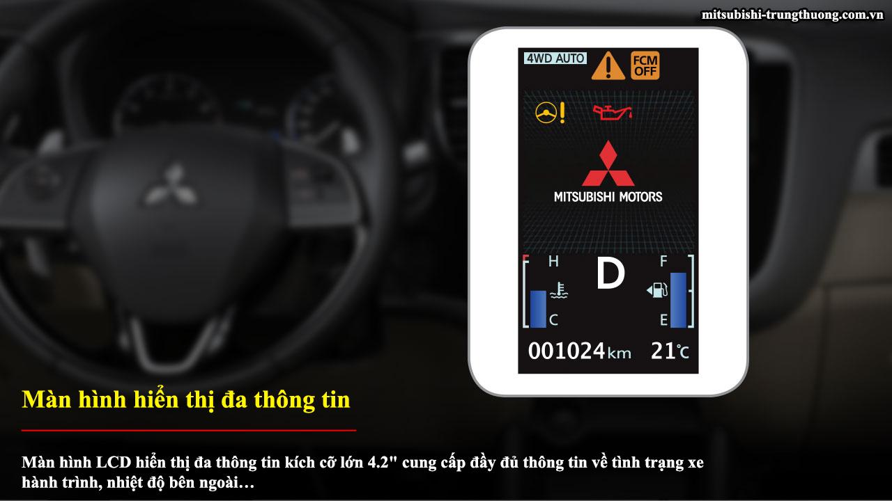 Mitsubishi Outlander 1 cầu 2.0 STD có màn hình hiển thị đa thông tin