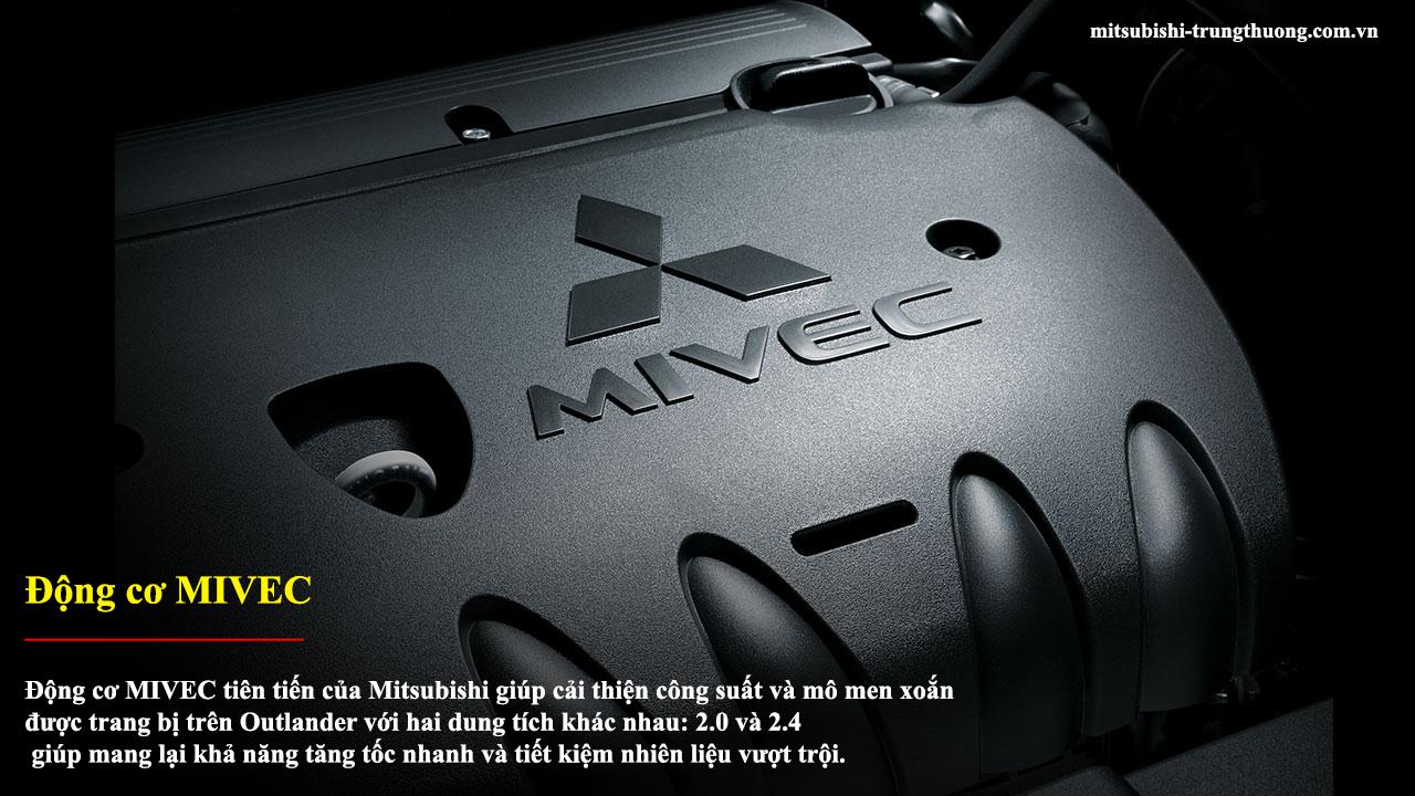 Mitsubishi Outlander 1 cầu 2.0 CVT trang bị động cơ MIVEC