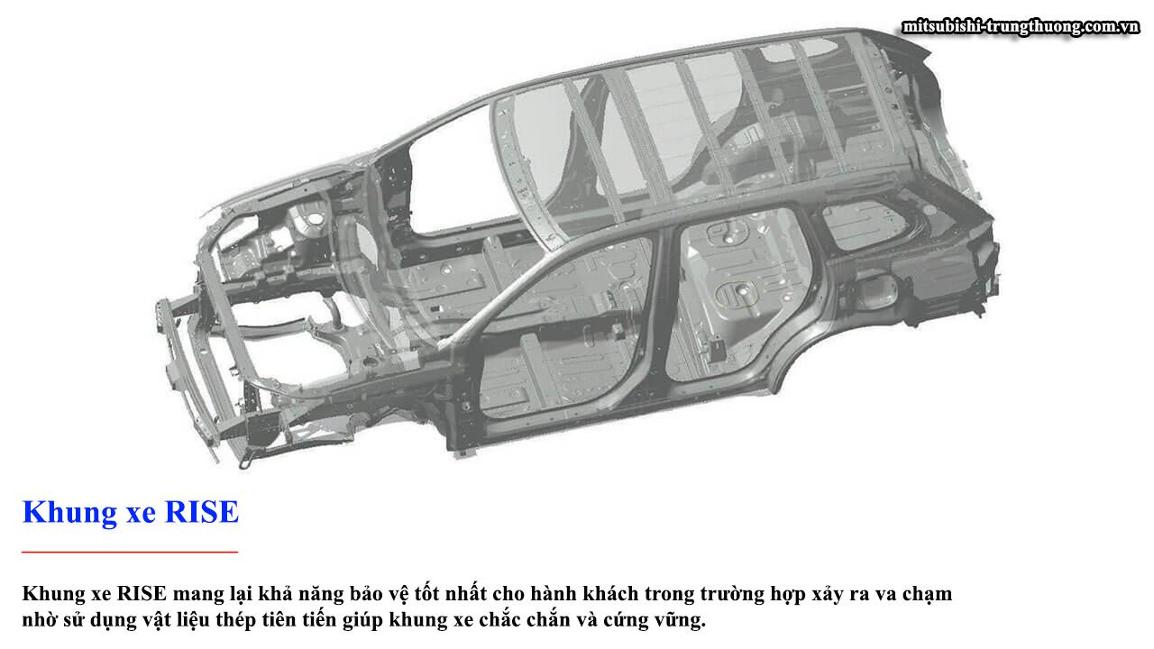 Mitsubishi Outlander 1 cầu 2.0 STD trang bị khung xe RISE