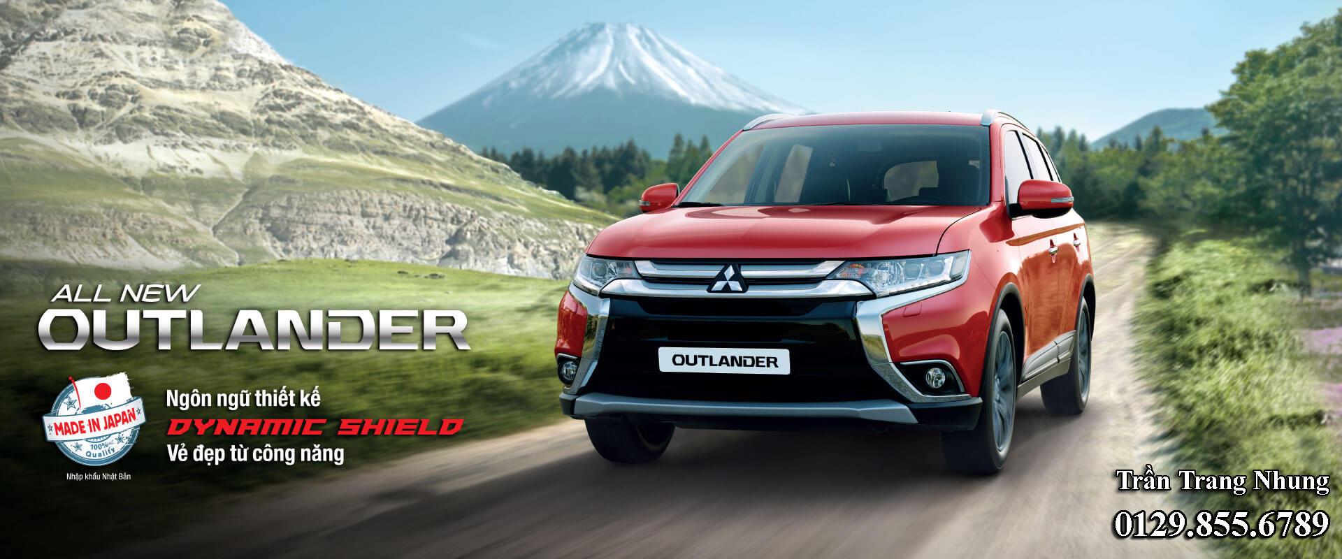 Mitsubishi Outlander 1 cầu 2.0 CVT nhập khẩu từ Nhật