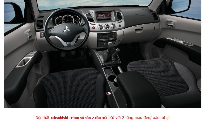 Mitsubishi Triton 2017 Số Sàn 2 Cầu 2 tông màu xe