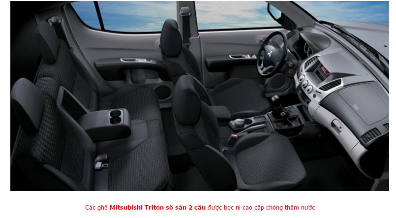 Mitsubishi Triton 2017 Số Sàn 2 Cầu bọc nỉ cao cấp