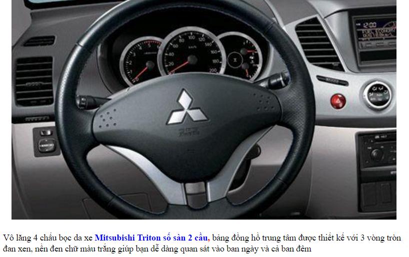 Mitsubishi Triton 2017 Số Sàn 2 Cầu vô lăng thể thao
