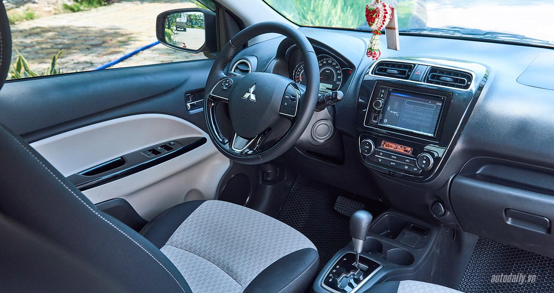 Mitsubishi Mirage 2017 nội thất sang trọng