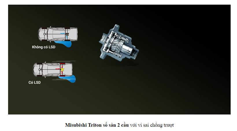 Mitsubishi Triton 2017 Số Sàn 2 Cầu có visai chống trượt