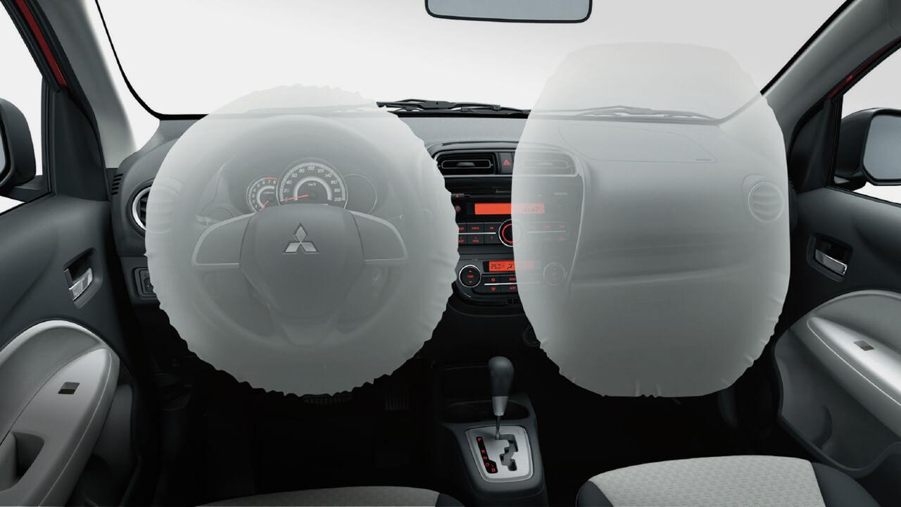 Mitsubishi mirage số tự động trang bị hệ thống túi khí an toàn