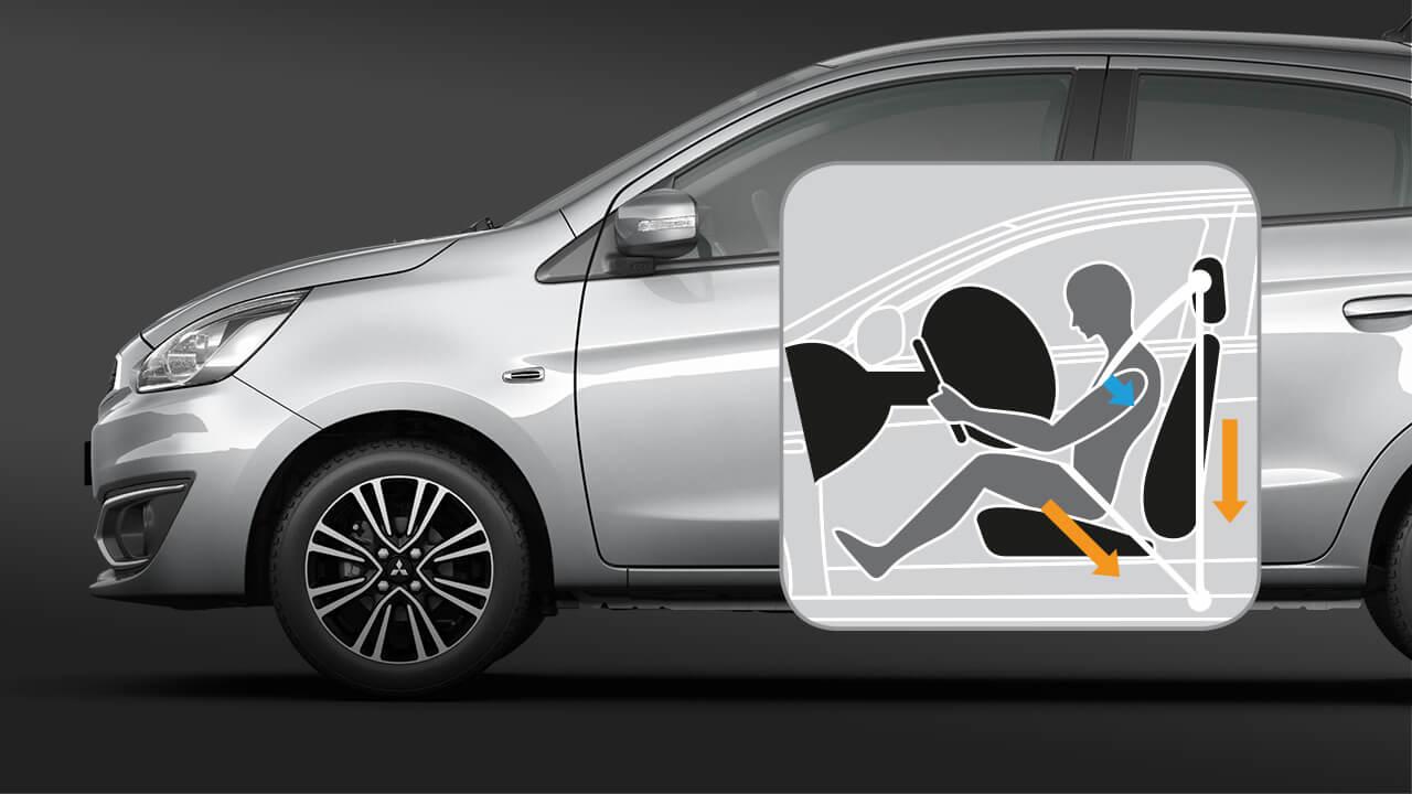 Mitsubishi mirage số tự động hệ thống căng đai tự động