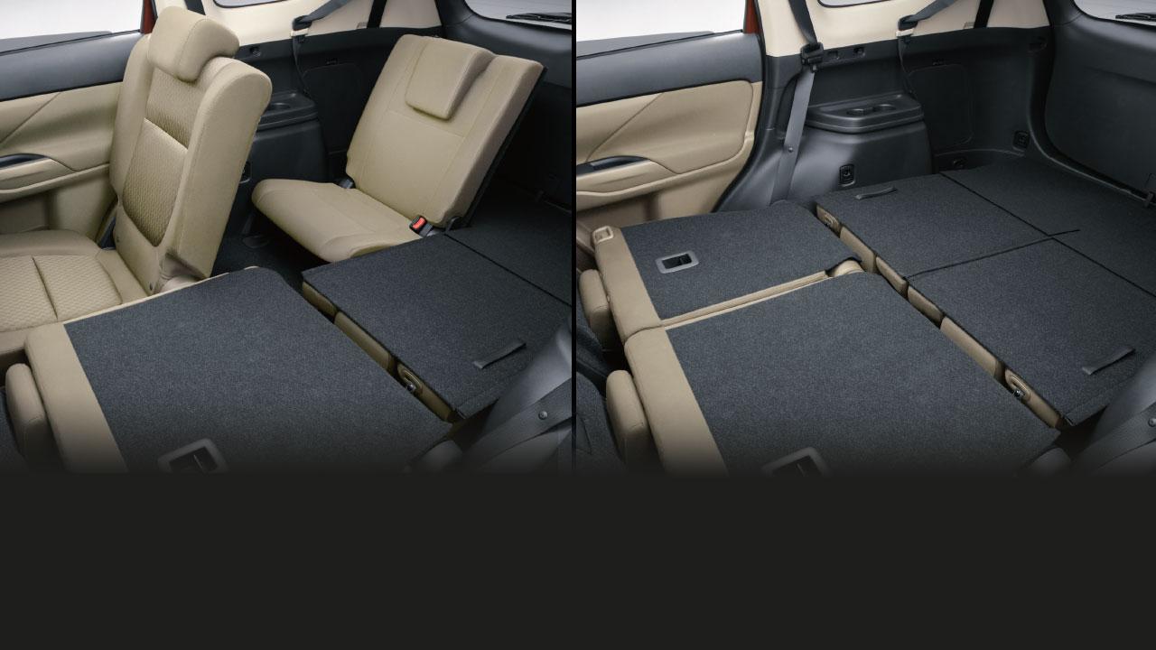 Mitsubishi outlander 2 cầu 7 chỗ 2.4 cvt trang bị khả năng gập ghế cực kỳ linh hoạt