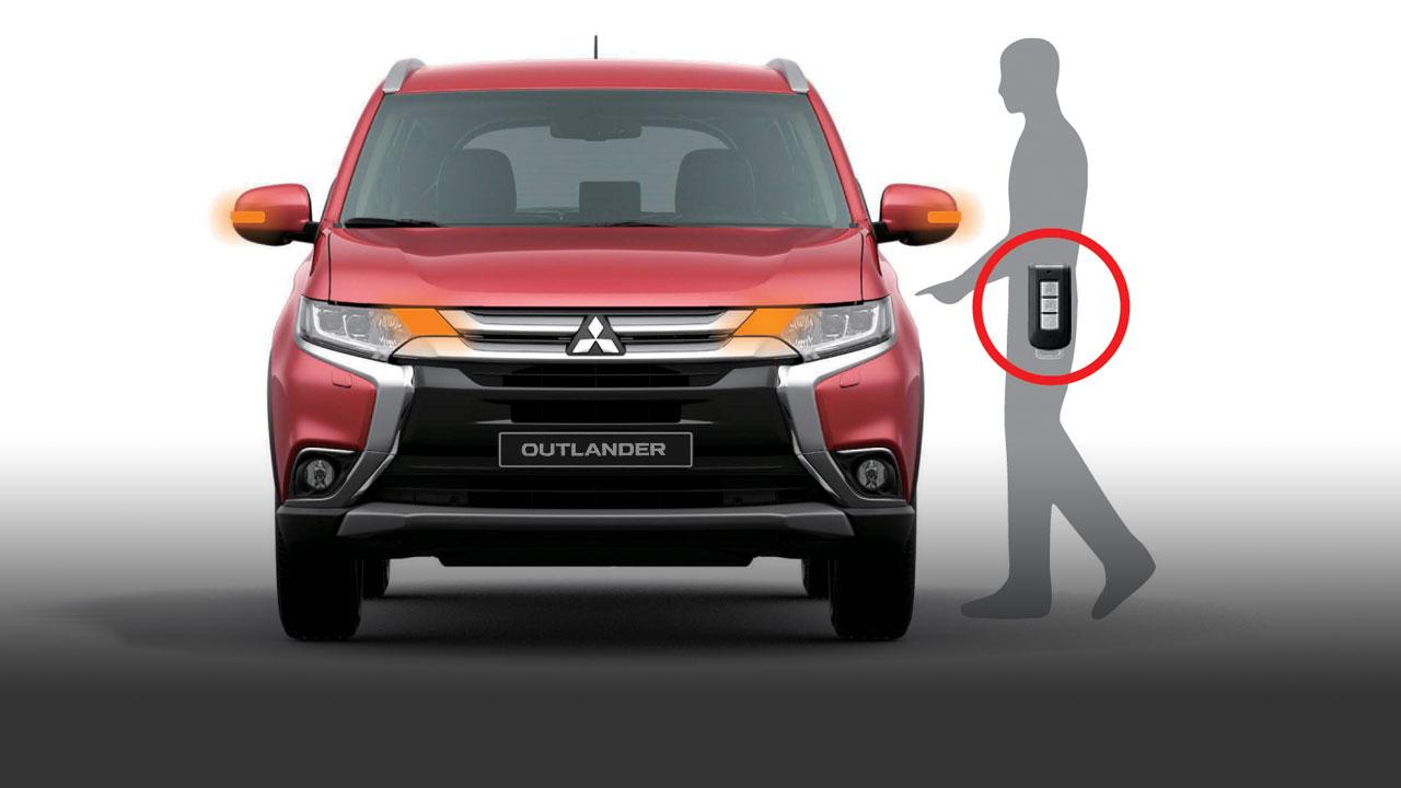 Mitsubishi outlander 2 cầu 7 chỗ 2.4 cvt được thích hợp chìa khóa thông minh khởi động bằng nút bấm
