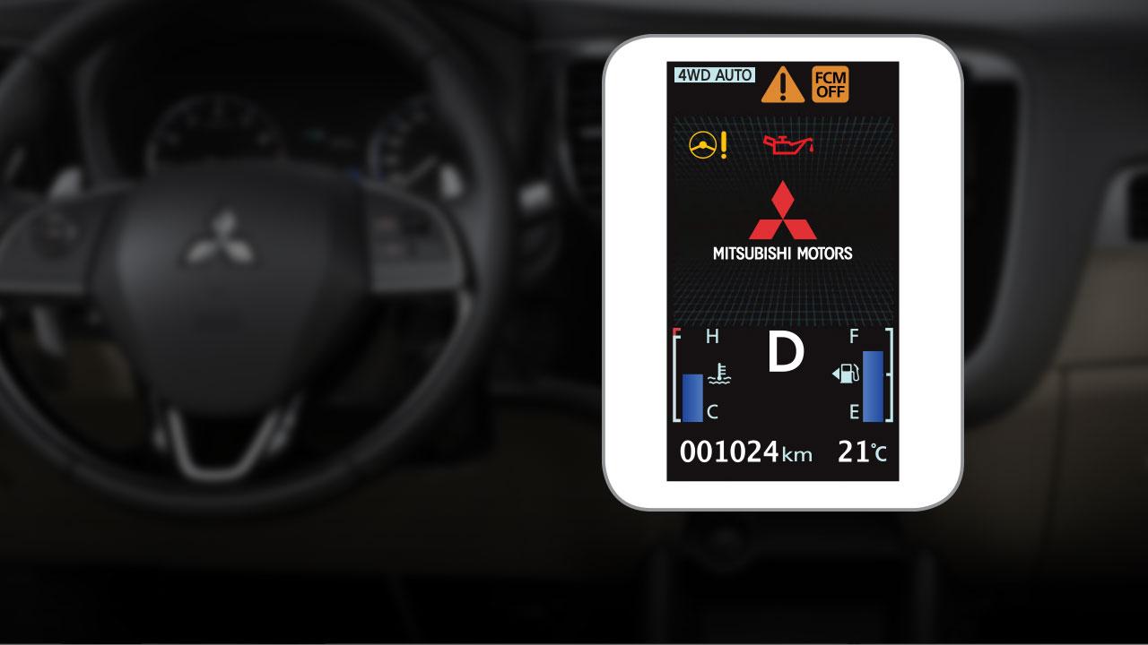 Mitsubishi outlander 2 cầu 7 chỗ 2.4 cvt có một màn hình hiển thị đa thông tin