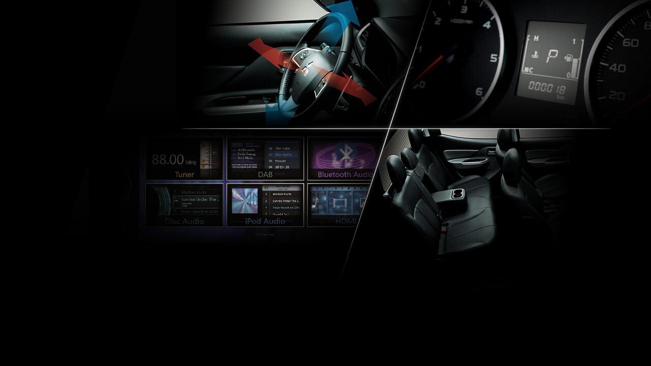 Mitsubishi triton số tự động 2 cầu với các tiện ích khác.