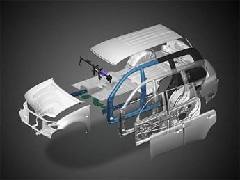 Mitsubishi Pajero Sport máy xăng được trang bị khung RISE cực kỳ vững chắc