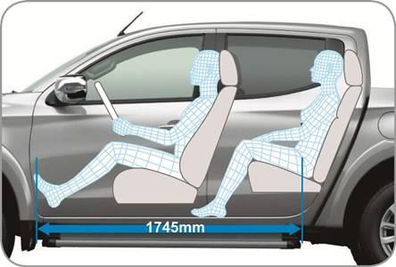Mitsubishi Triton 2017 MIVEC 1 Cầu kích thước để chân