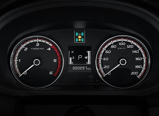 Mitsubishi Triton 2017 MIVEC 1 Cầu bảng hiển thị đẹp