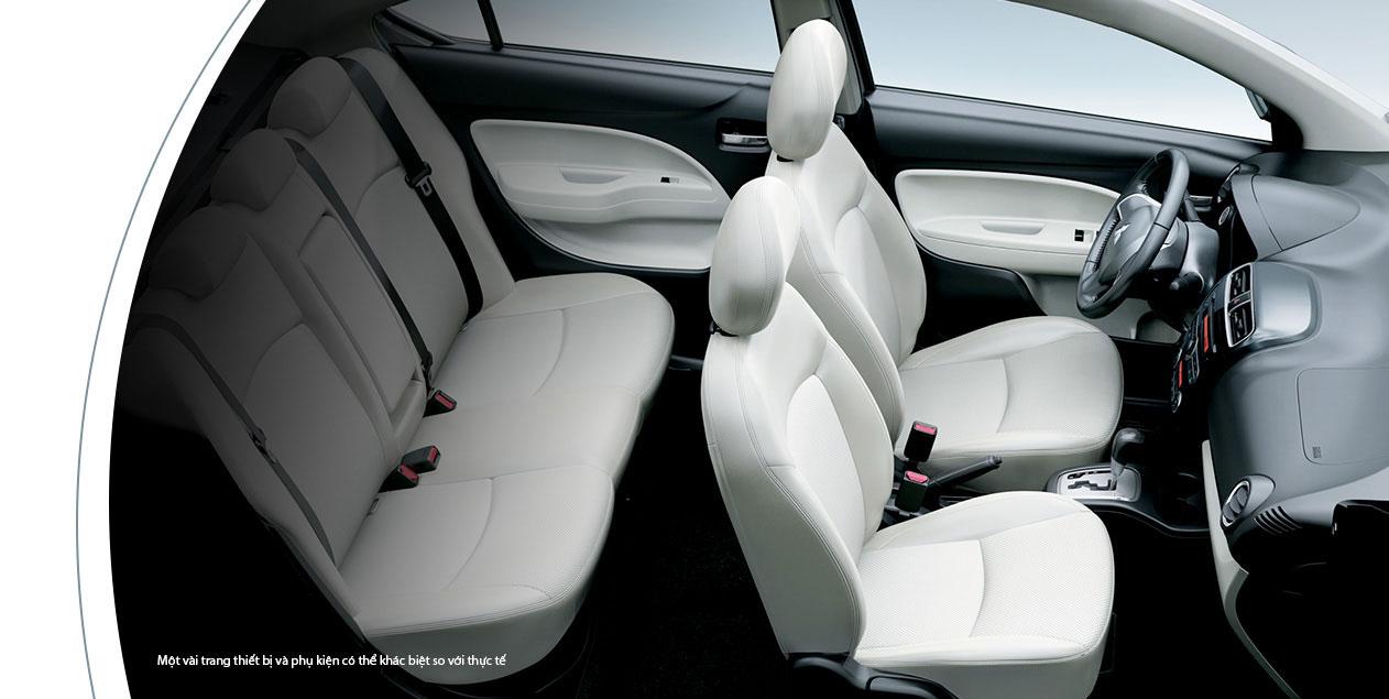 Mitsubishi Attrage 2017 nội thất cực kỳ rộng rãi
