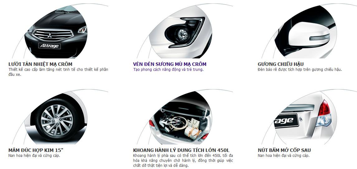 Mitsubishi Attrage đầy đủ công nghệ hiện đại