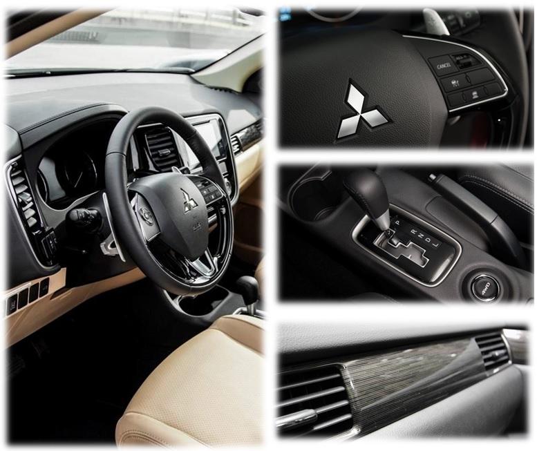 Mitsubishi Outlander 2 cầu 2.4 cvt nội thất tiện nghi