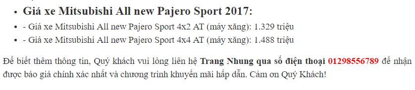 Pajero Sport Premium 2017