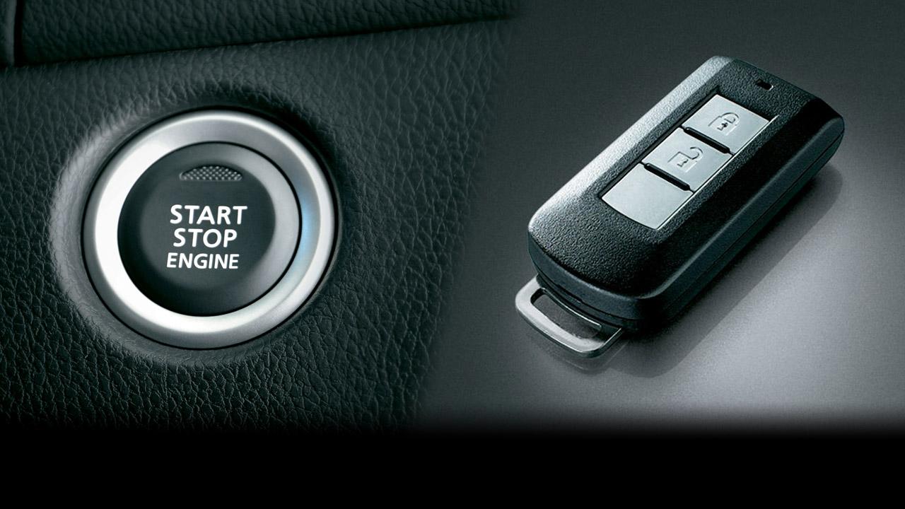 All New Pajero Sport trang bị chìa khóa thông minh