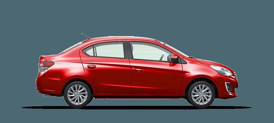 Mitsubishi Attrage màu đỏ