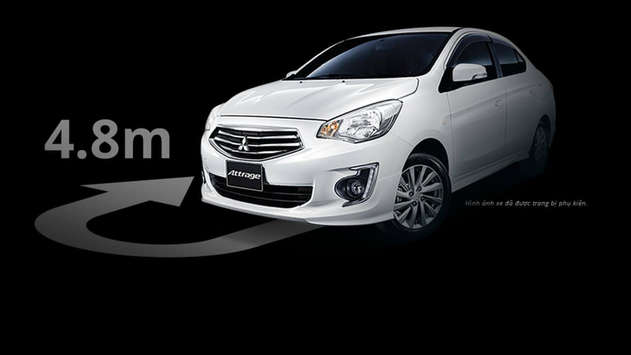 Mitsubishi Attrage 2017 có bán kính vòng quay nhỏ