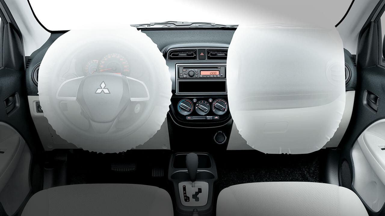 Mitsubishi Attrage 2017 trang bị túi khí an toàn đôi