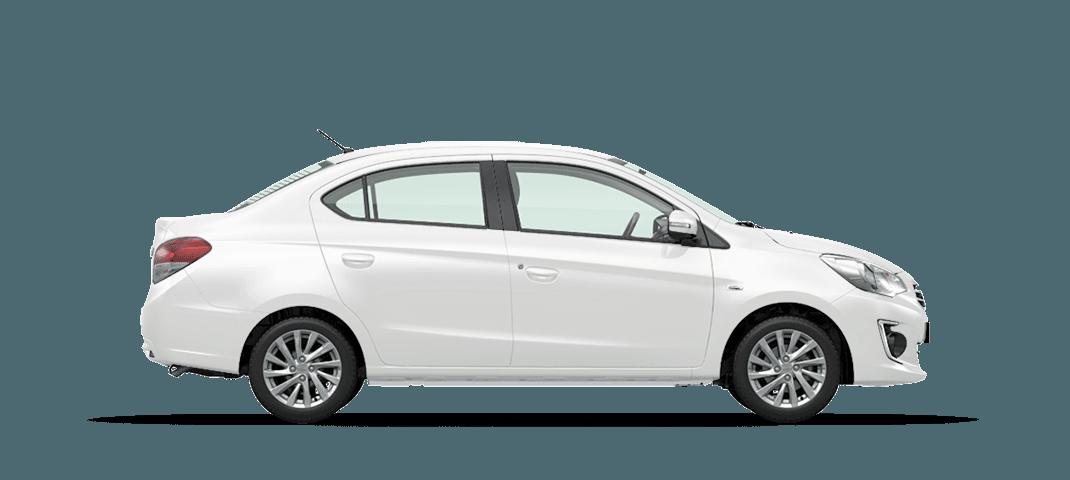 Mitsubishi Attrage màu trắng