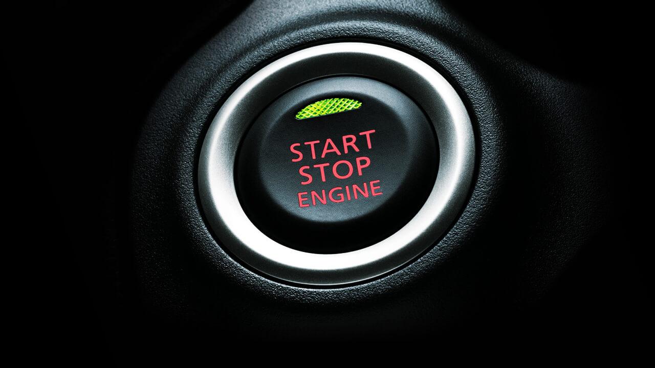 Mitsubishi Mirage 2017 nút bấm khởi động