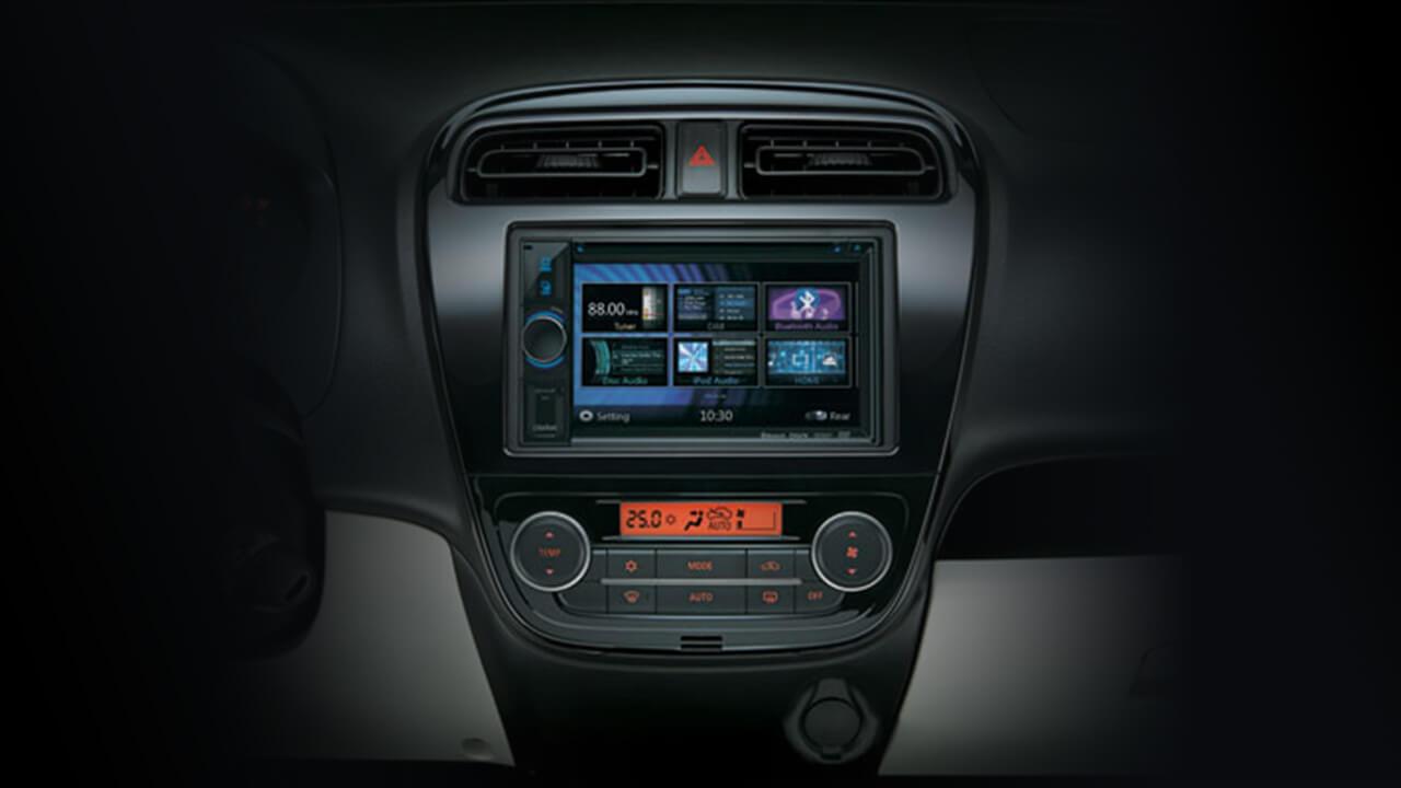 Mitsubishi Mirage 2017 giải trí DVD