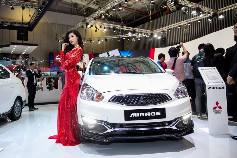 Mitsubishi Mirage 2018 có mặt tại cuộc triển lãm