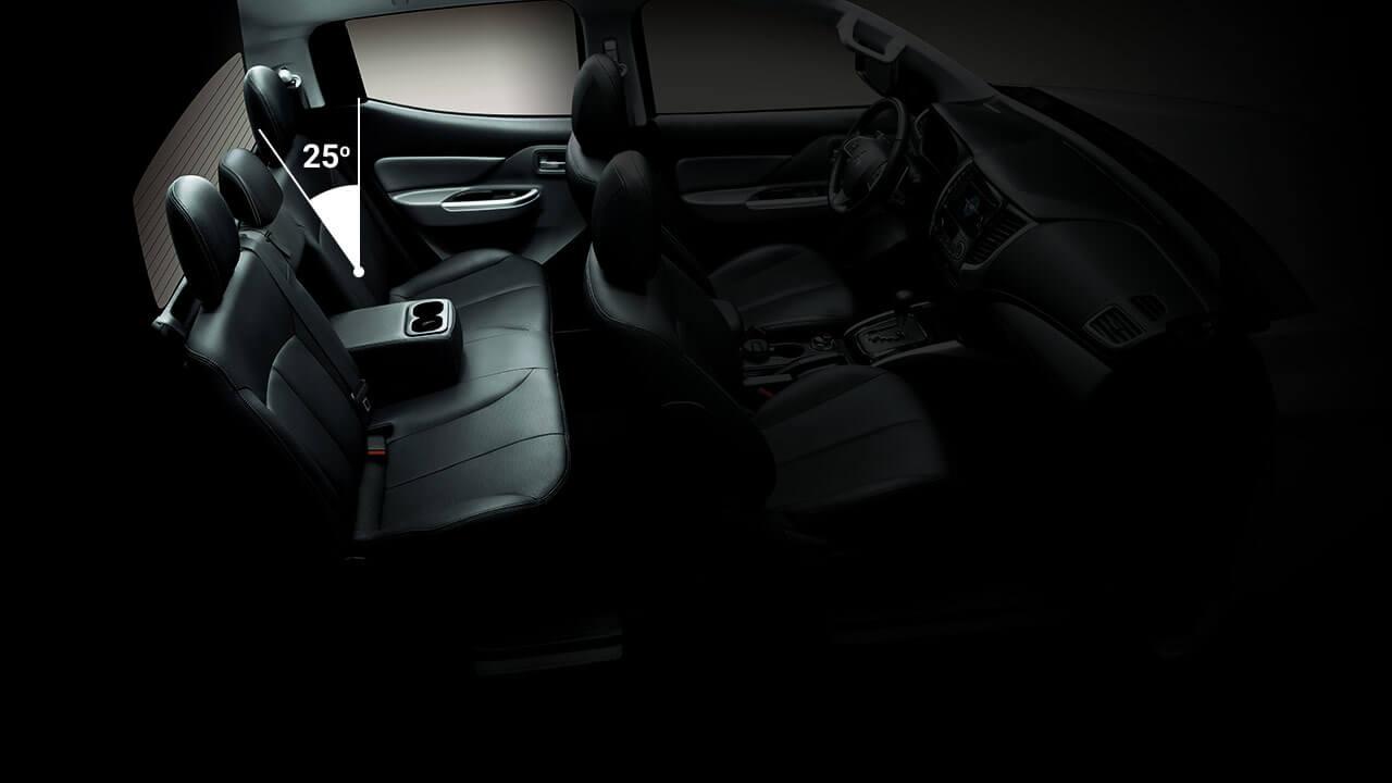 Mitsubishi Triton 2017 độ nghiêng ghế 25 độ