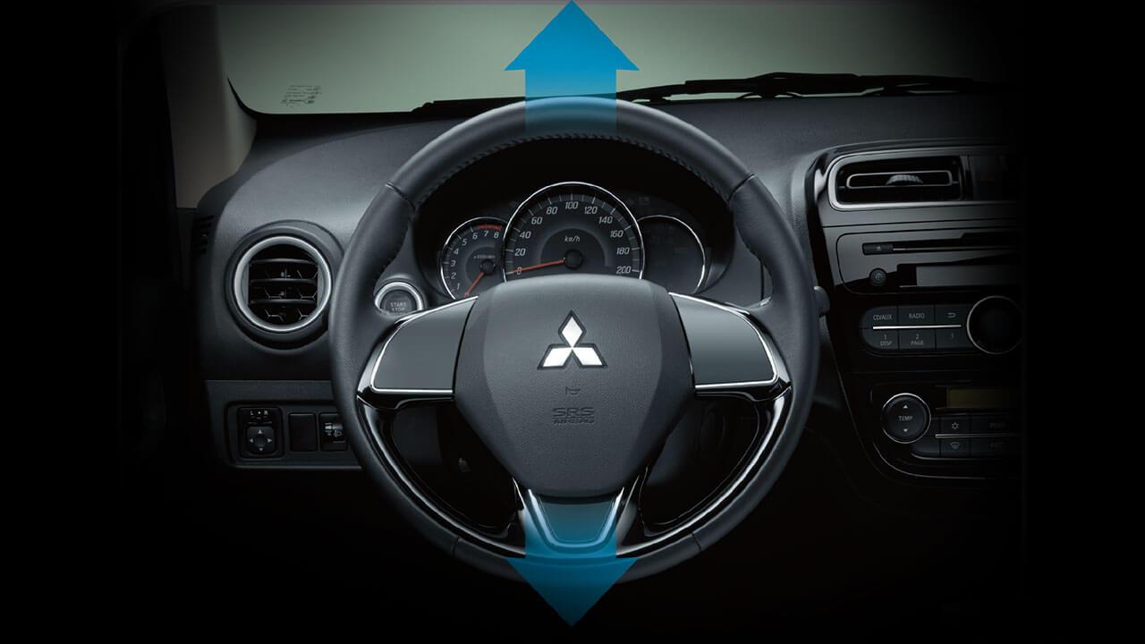 Mitsubishi mirage số tự động còn có vô lăng trợ lực điện