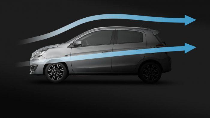 Mitsubishi mirage số tự động khí động học hiệu quả