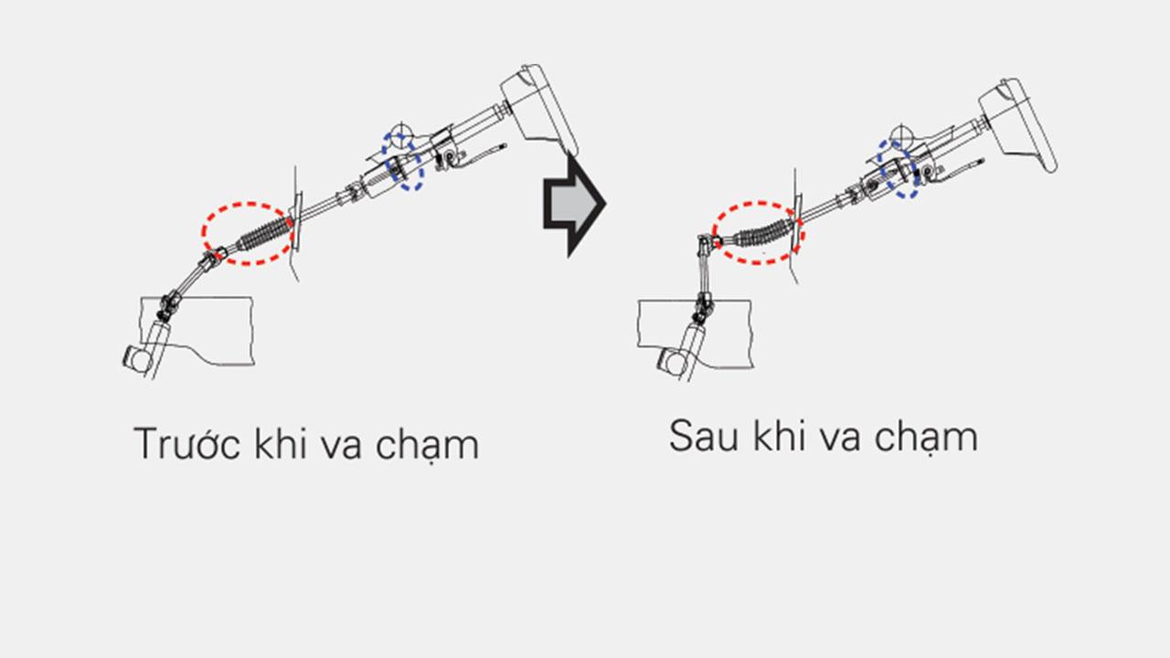 Mitsubishi mirage số tự động cột lái tự động và bàn đạp phanh